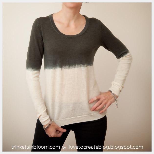 Dip Dye a Wool Sweater Photo 2