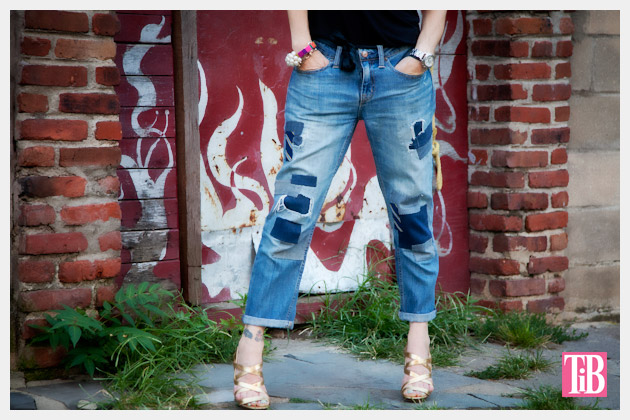 Fall Denim Review DIY Patched Jeans