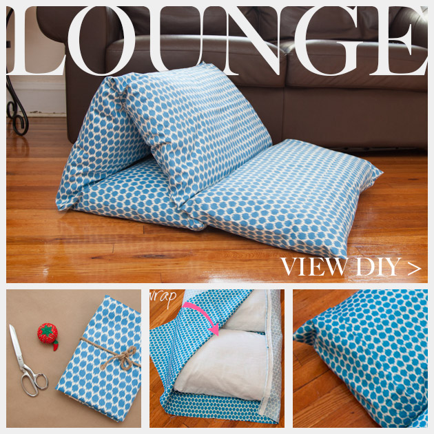 diy pillow lounger using waverly fabric. Black Bedroom Furniture Sets. Home Design Ideas