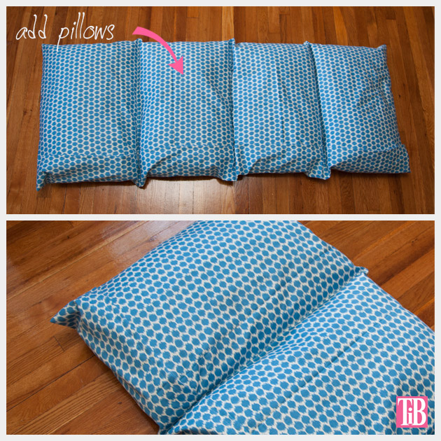 DIY Pillow Lounger Add Pillows