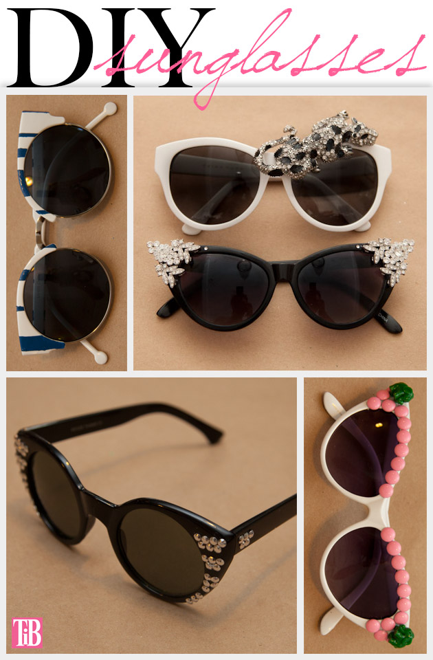 DIY Sunglasses from www.trinketsinbloom.com