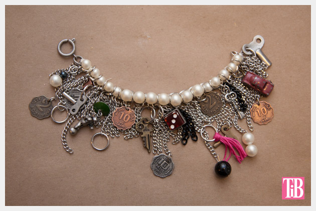 YSL Inspired Charm Bracelet DIY Finished