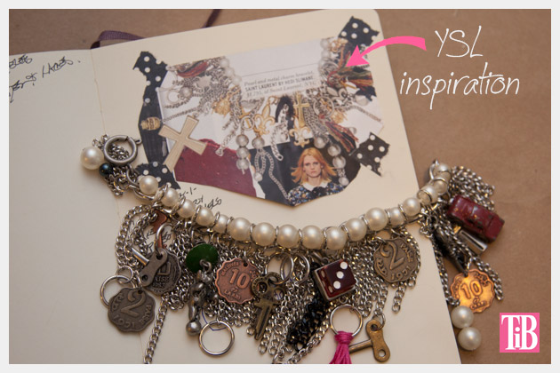 YSL Inspired Charm Bracelet DIY Inspiration