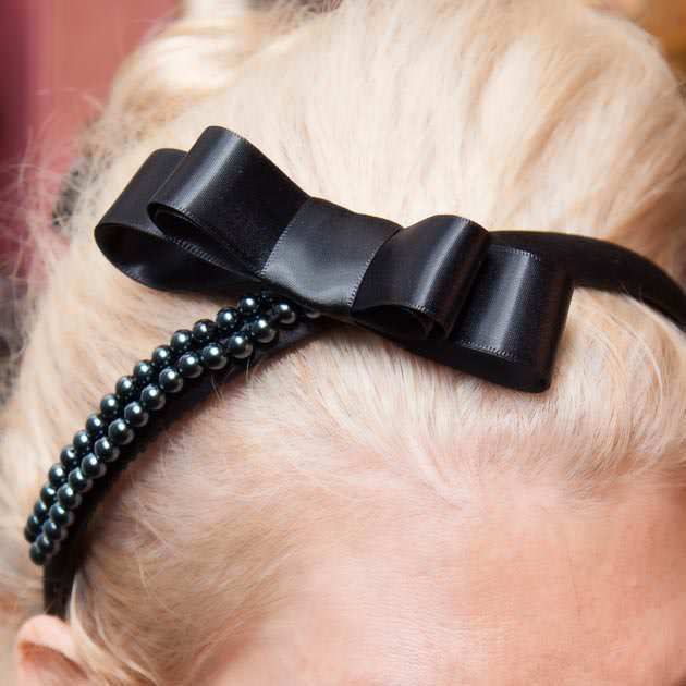 Beaded Bow Headband DIY