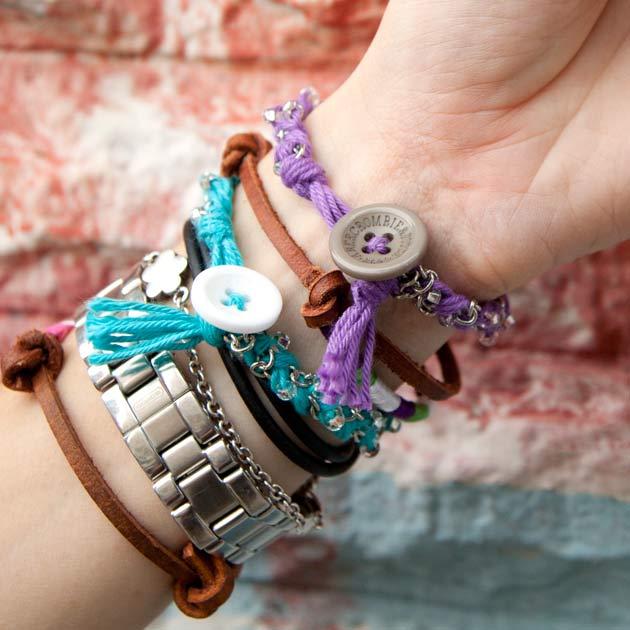 Braided Bracelets DIY in Bonbons Yarn
