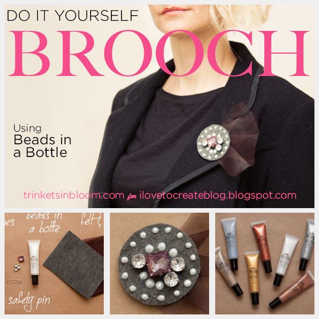 DIY Brooch using Beads in a Bottle www.trinketsinbloom.com
