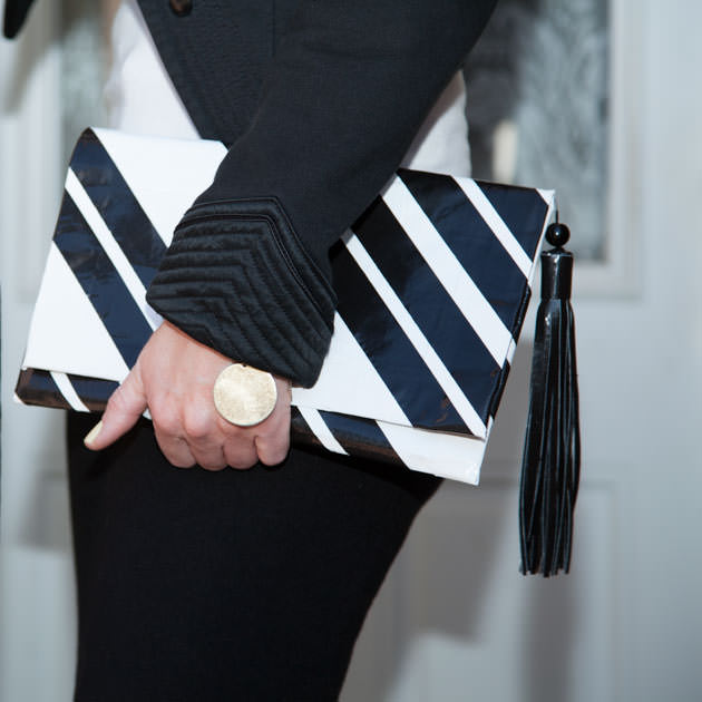 Black and White Duct Tape Clutch DIY
