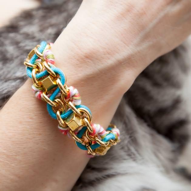 Chain Stud Bracelet DIY