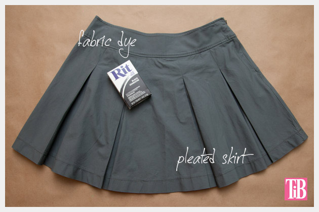 Dip Dye Pleated Skirt DIY Supplies
