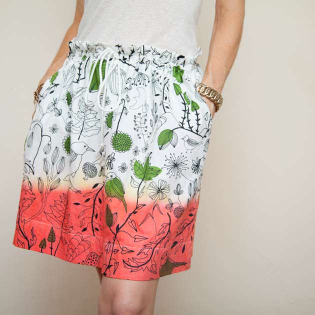 Dip Dye Skirt DIY