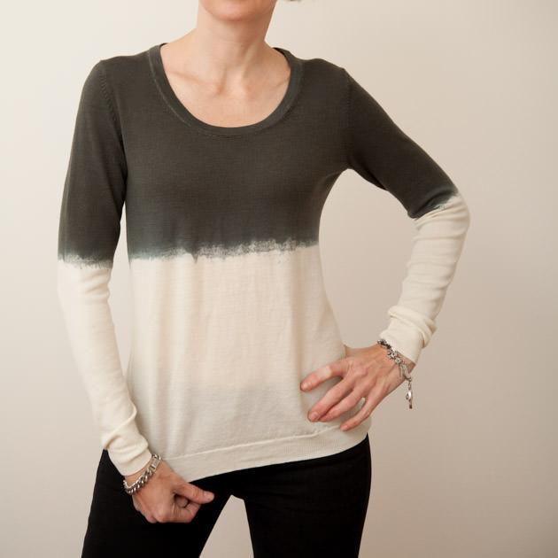 Dip Dye Wool Sweater DIY