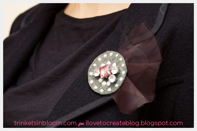 DIY Brooch using Beads in a Bottle from Tulip Detail Photo