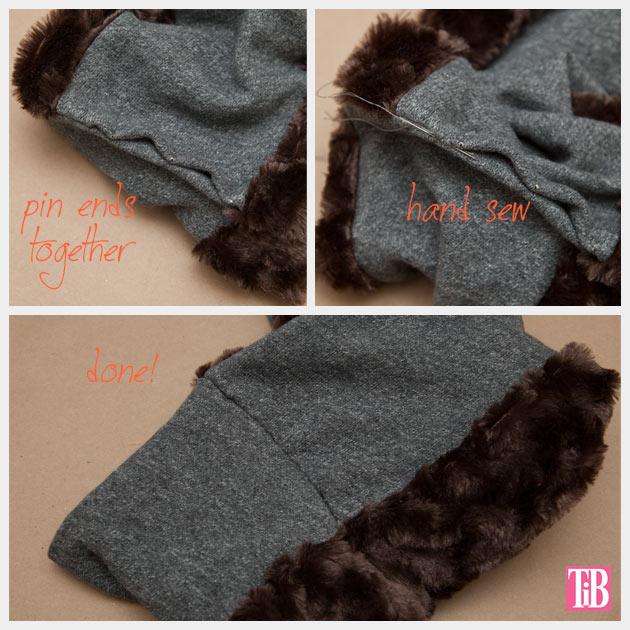 DIY Faux Fur Scarf Hand Sewing