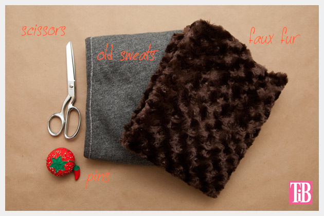 DIY Faux Fur Scarf Supplies