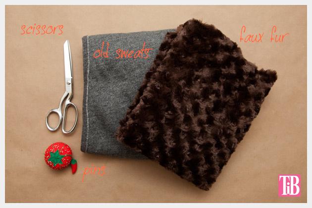 DIY Faux Fur Scarf Supplies