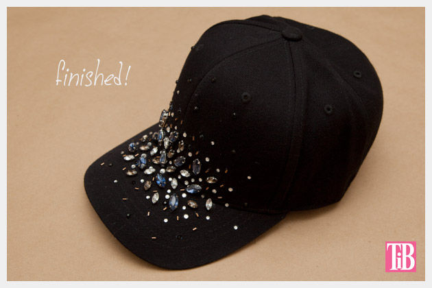 DIY Rhinestone Baseball Cap Finished Photo