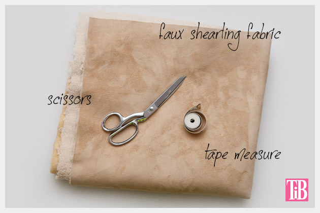 DIY Shearling Vest Supplies