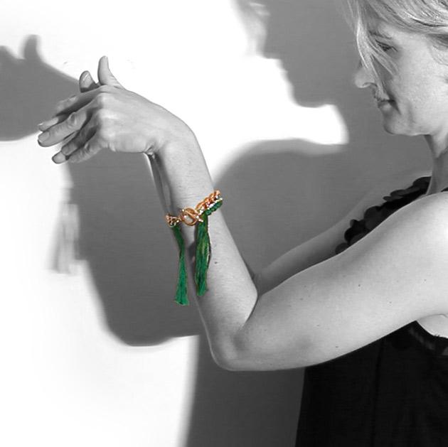 Emerald Bracelet DIY