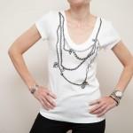 Faux Necklace T Shirt DIY