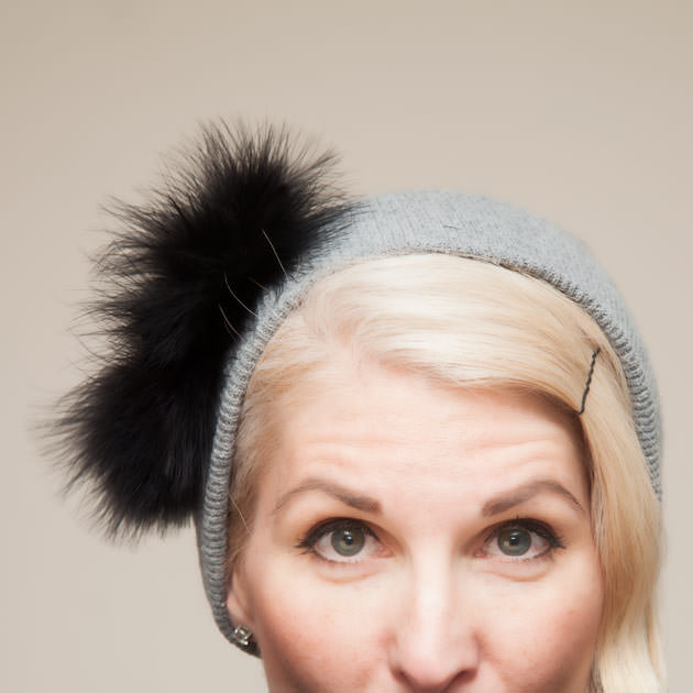 Feathered Jeweled Beanie DIY