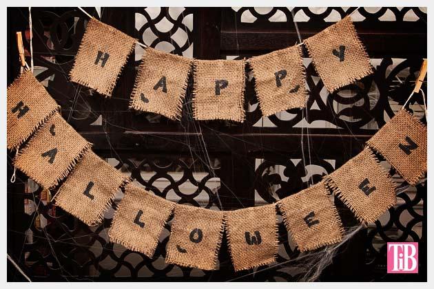 Halloween Banner DIY Photo Indoors