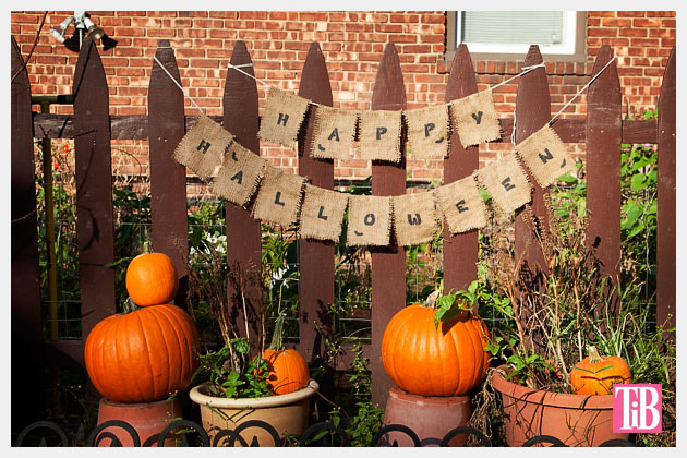 Halloween Banner DIY Photo Outdoors