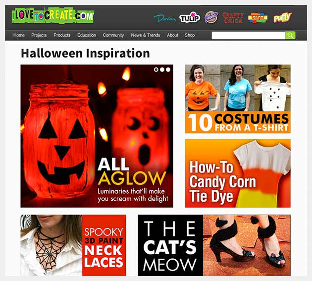 I Love To Create's Halloween Inspiration Page