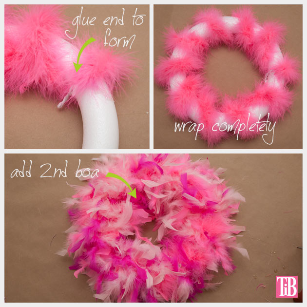 Monsters University Wreath Wrapping Feather Boas