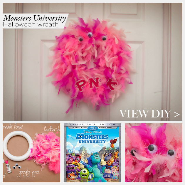Monsters University Wreath by www.trinketsinbloom.com