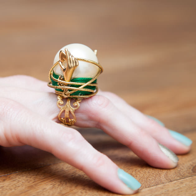 OZ Crystal Ball Ring DIY