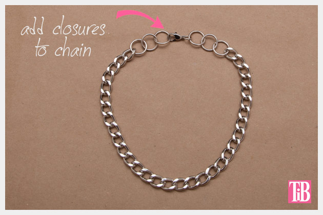 Large Chain and Pearl Necklace DIY Adding Closures