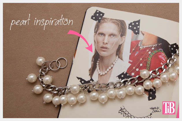 Large Chain and Pearl Necklace DIY Inspiration