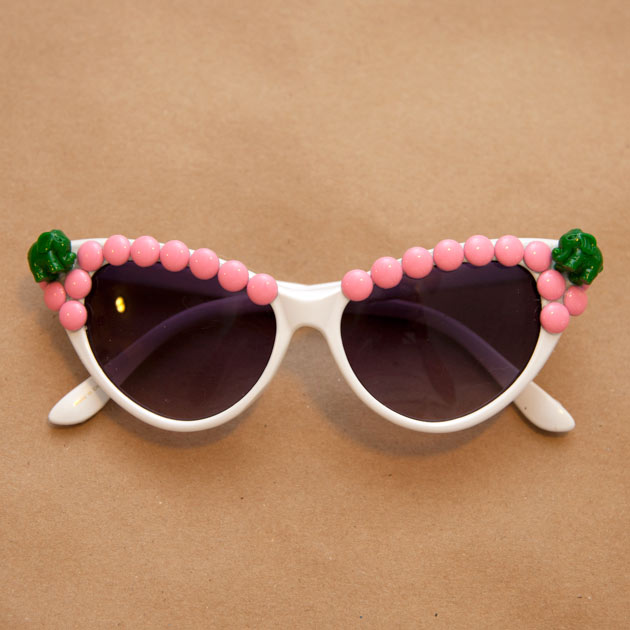 Pink and Green Sunglasses DIY