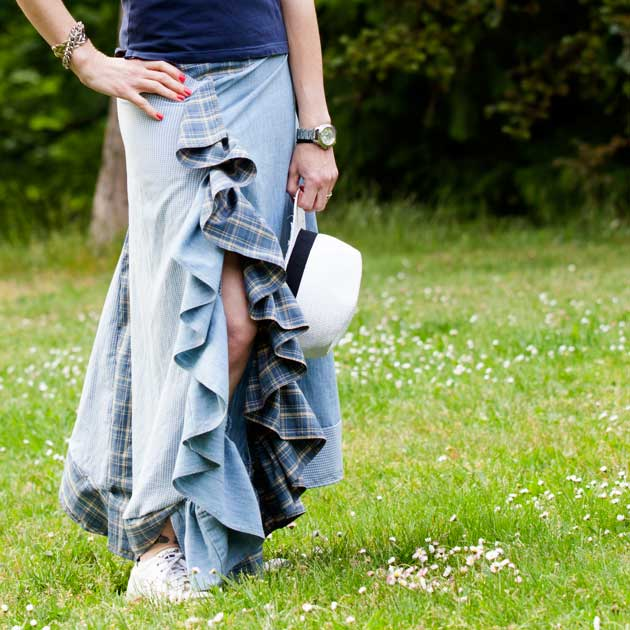 Recycled Ruffle Skirt DIY