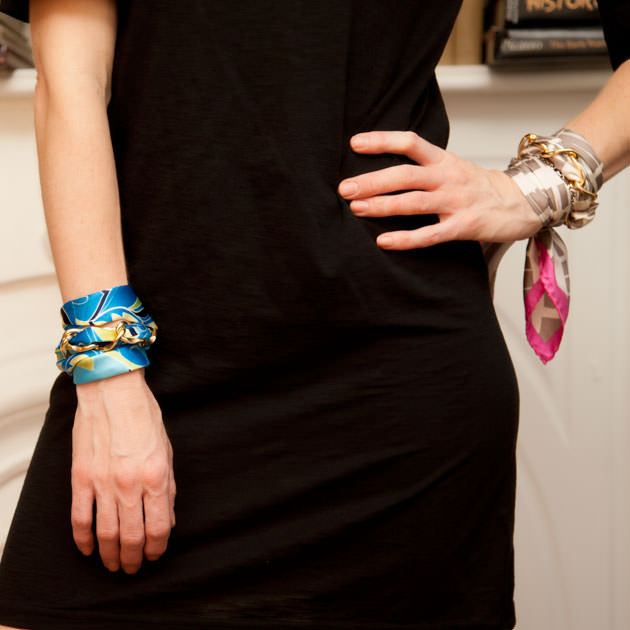 Scarf Chain Bracelet DIY