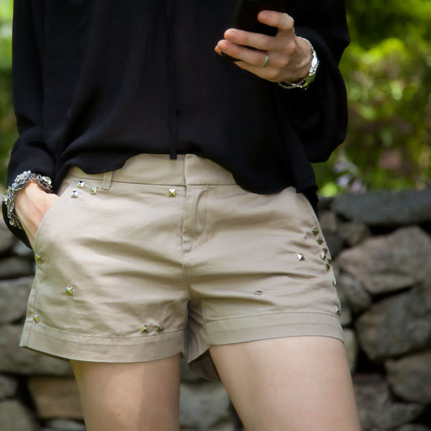 Shorts with Studs DIY