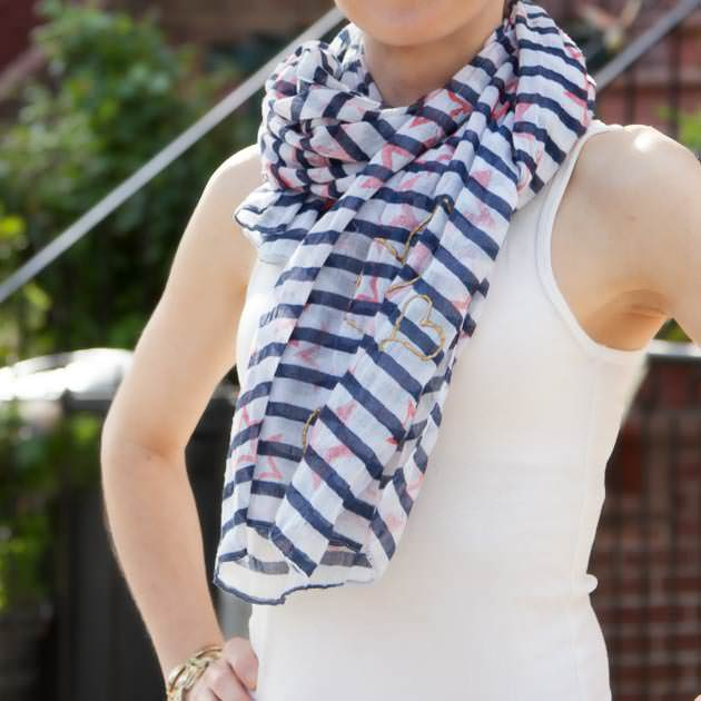 Stamped Scarf DIY