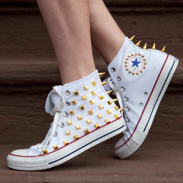 Studded Converse DIY