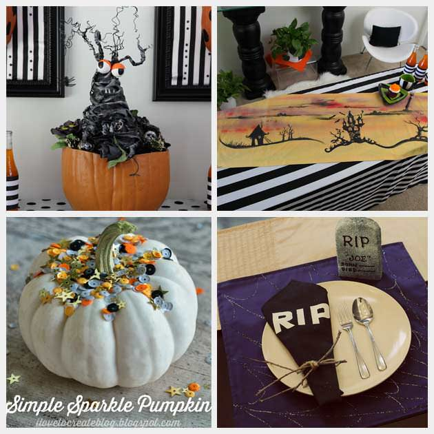 Halloween Table Setting DIY's from www.ilovetocreate.com