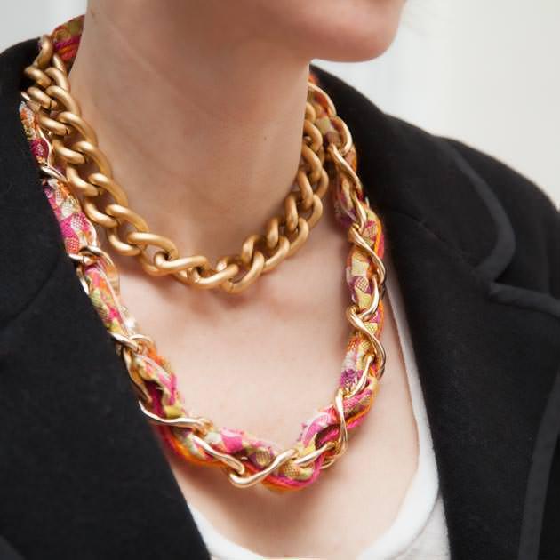 Woven Chain Necklace DIY