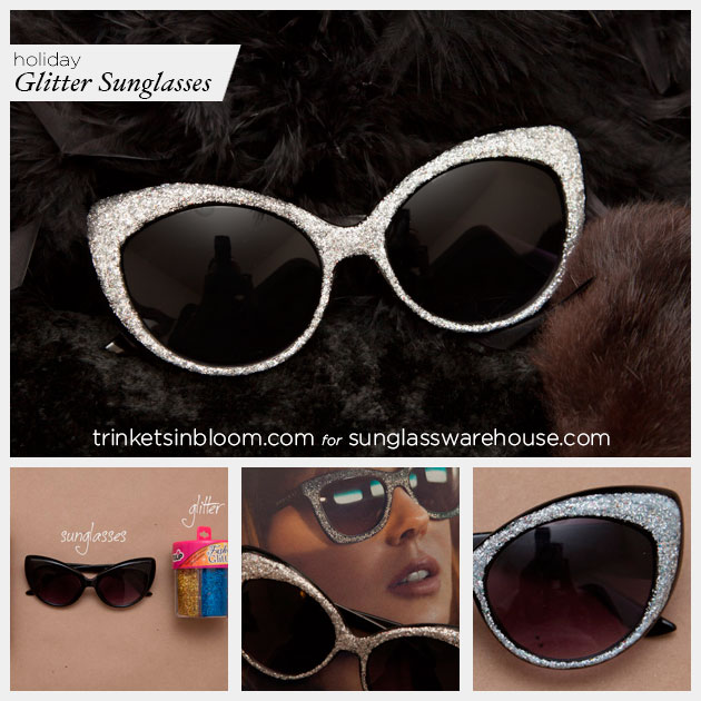Holiday Sunglasses DIY by Trinkets in Bloom for Sunglass Warehouse