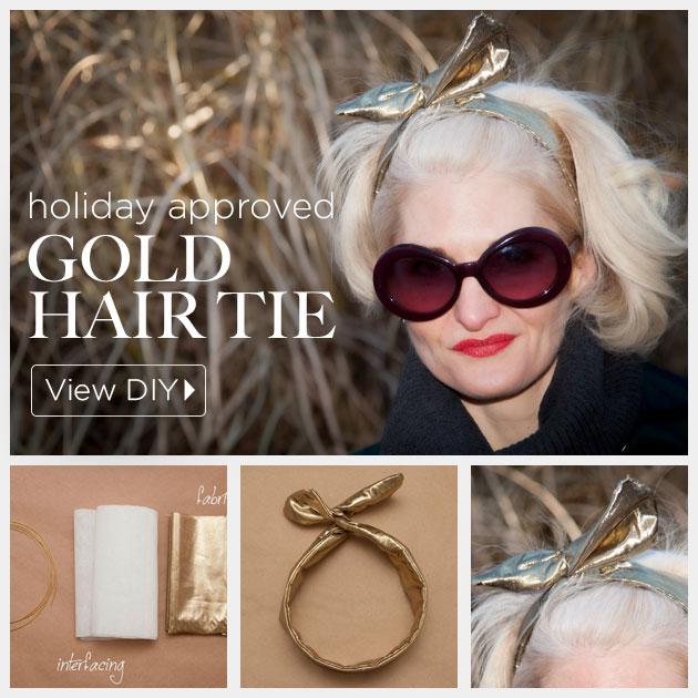 DIY Gold Hair Tie by Trinkets in Bloom
