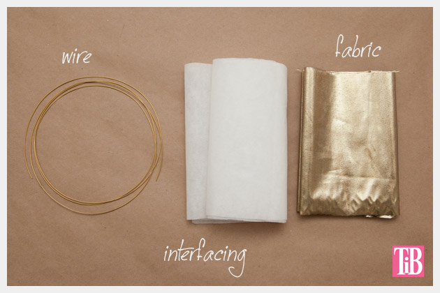 DIY Gold Hair Tie Supplies