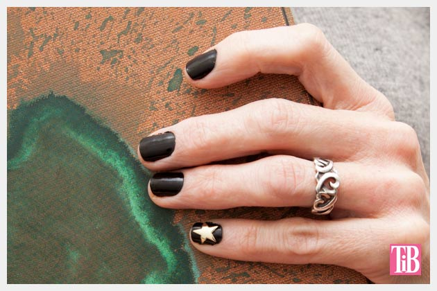 Gold Star Manicure DIY Photo by Trinkets in Bloom