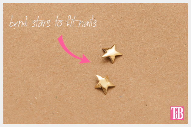 Gold Star Manicure DIY Bending your Stars by Trinkets in Bloom