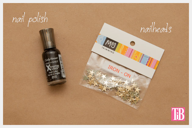 Gold Star Manicure DIY Supplies by Trinkets in Bloom