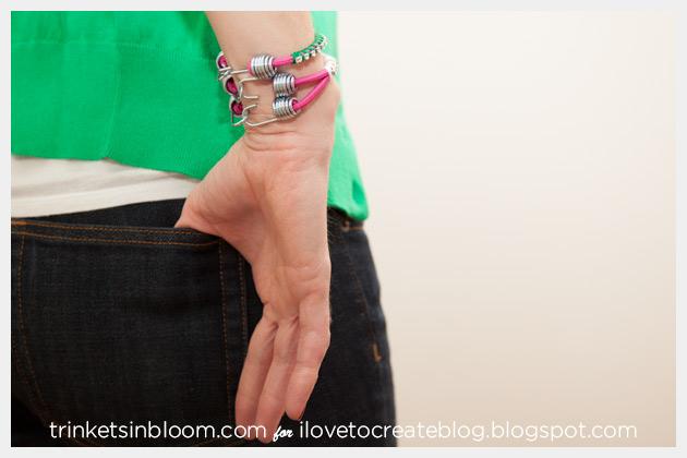 Rhinestone Bungee Bracelet DIY Back View