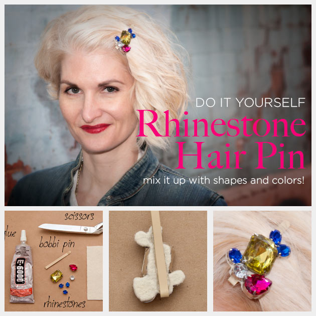 DIY Rhinestone Hair Pin by Trinkets in Bloom