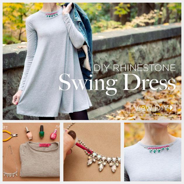 Rhinestone Swing Dress DIY by Trinkets in Bloom