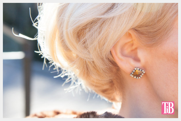 Stud and Rhinestone Earrings DIY by Trinkets in Bloom